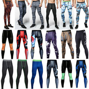 Mens-Compression-Long-Pant-Base-Layer-Sports-Workout-Leggings-Tops-Fitness