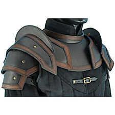 Leather Shoulder Pauldrons, Black, Brown, M, L, Armour, Medieval, LARP