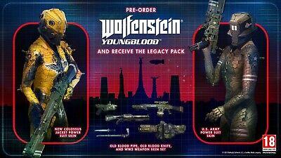 Wolfenstein YoungBlood XB1 DLC KEY CODE Pre-order Bonus XBOX ONE Legacy Pack