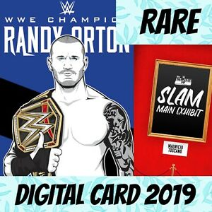 Topps Slam WWE Randy Orton Main Exhibit Rare Base W/1 2019 Digital Card
