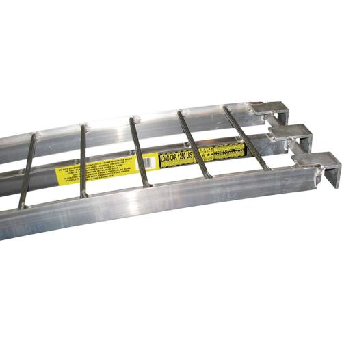 Per Pair Aluminum Trailer Ramps Mfg In The USA 5ft.L x 12in W 2,500 lb Cap
