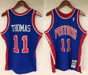 separation shoes dee14 e783d Details about Isiah Thomas Detroit Pistons Mitchell & Ness NBA 1988-1989  Authentic Jersey