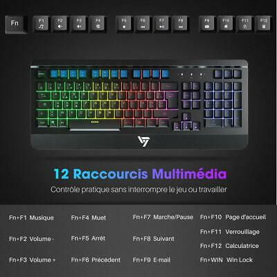 VicTsing Clavier Gamer Filaire Ultra Mince, Gaming Keyboard