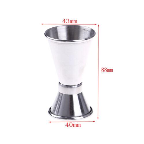 Jigger Single Double Shot Cocktail Shaker Wine Short Measure Cup Drink BarToolVQ