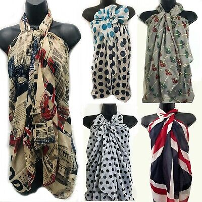 Large Print Sarong Scarf Wrap Kaftan Beach Holiday Animal Bird Scarves Shawl 191 Professionelles Design