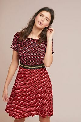 $148   Anthropologie Amici Colorblocked Dress size 6 new nwt red