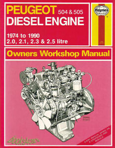 shop manual peugeot service repair diesel 505 504 xd2 xd2s xd3s xd90 rh ebay com