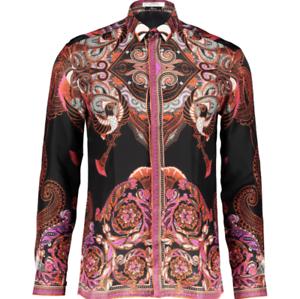 dacc5001 Details about VERSACE COLLECTION Batik Print Silk Shirt - EU Collar - 38,  39, 40, 41, 42