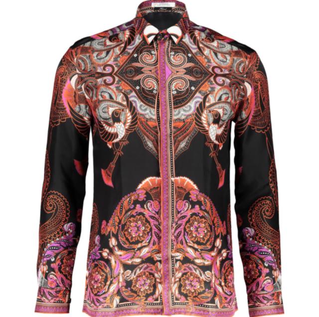 62fa6feccaa VERSACE COLLECTION Batik Print Silk Shirt - EU Collar 38, 39, 40, 41, 42,  43, 44