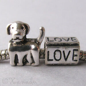 2PCs-Puppy-Love-Dog-Large-Hole-Beads-For-All-European-Brand-Charm-Bracelets