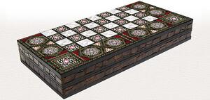 20-034-madreperla-patron-Laminado-Madera-Comprimida-Damas-Backgammon-Set
