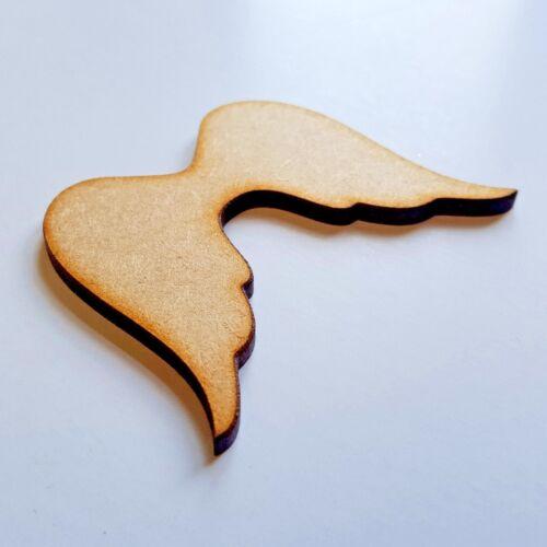 En bois noël angel wings formes craft heart family tree blank fabrication carte