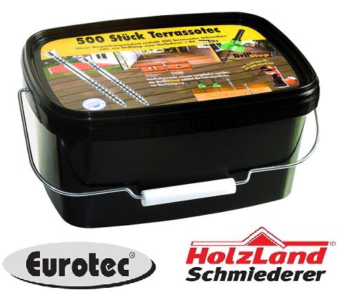 Eurotec Terrassotec V2A Terrassenschrauben Edelstahl 5,5 x 50 60 70   | Überlegen