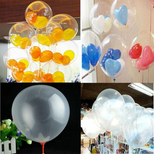 "Wholesale 20/50/100 Transparent Latex Balloons Birthday Wedding Party Decor 10"""