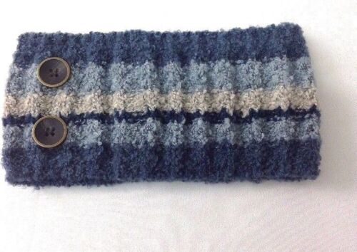 Simply Noelle Women/'s Winter Comfy Cozy Knit Headband with Buttons