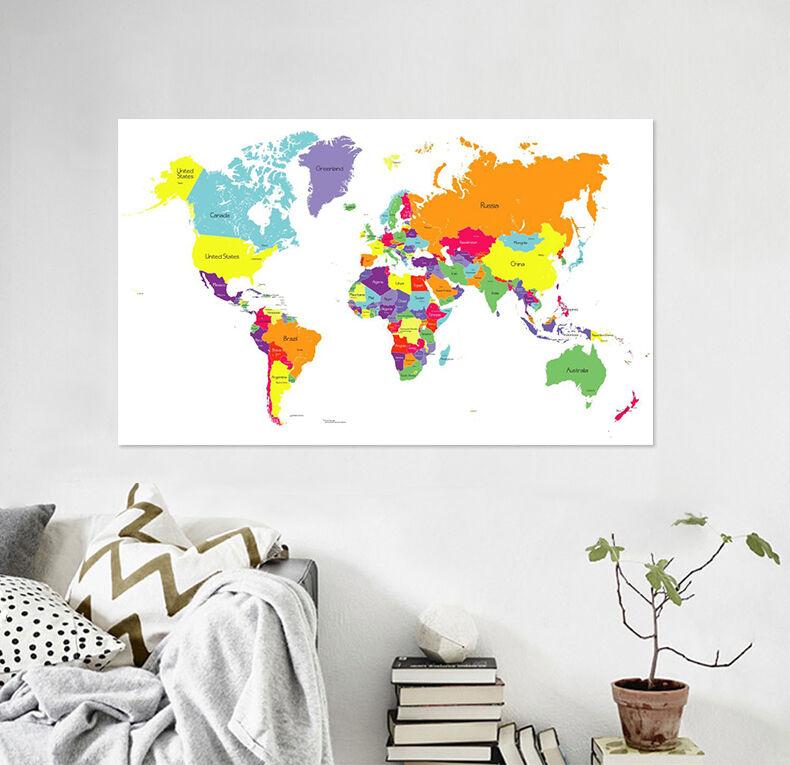 3D Karte der Welt 645 Fototapeten Wandbild BildTapete Familie AJSTORE DE