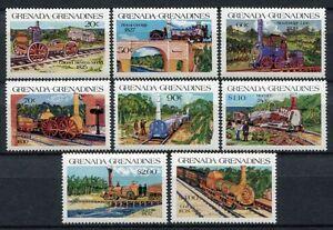 2019 Nouveau Style Grenade Grenadines 1984 Chemin De Fer Railways Trains Trains 629-636 ** Neuf Sans Charnière