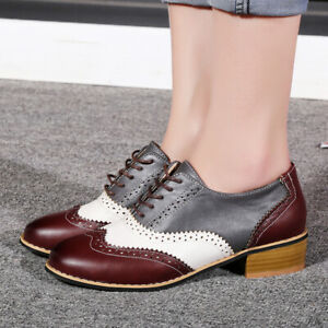 Oxfords Brogue Wingtip Casual Shoes