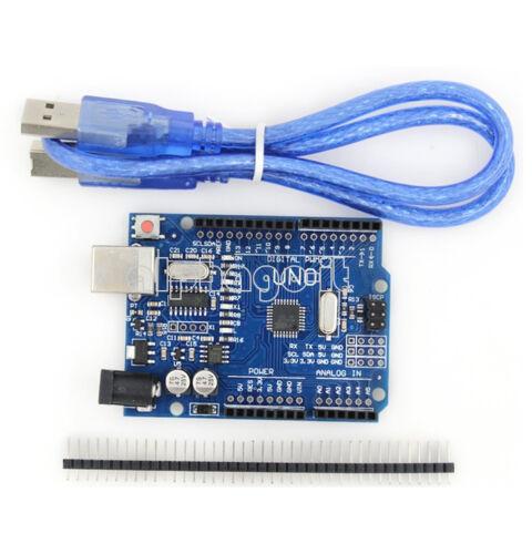 New UNO R3 ATmega328P CH340G USB Driver Board /& USB Cable For Arduino DIY