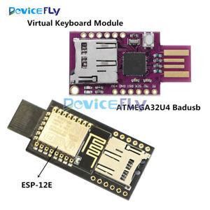 ATMEGA32U4 Badusb ESP8266 ESP12E TF Micro SD Virtual