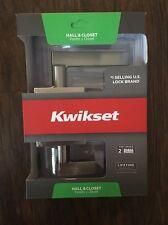 KWIKSET  Hall & Closet Door Lock Signature Series -  Bru-nickel 154HFL SQT 15 CP