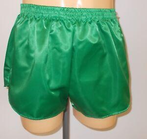 Plain Royal Blue Retro Nylon Satin Football Shorts S to 4XL
