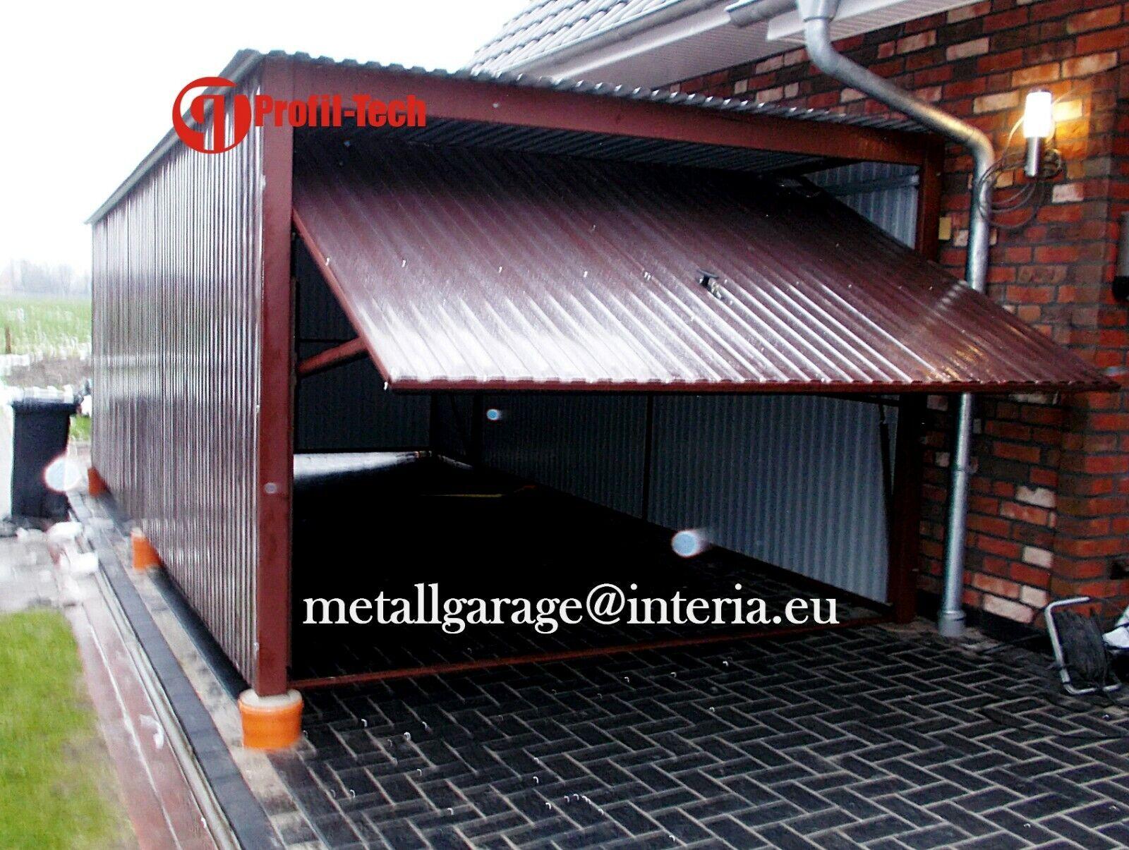 2,5X3,5 Blechgarage Container Metallgarage LAGERRAUM GERÄTESCHUPPEN garage
