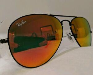 ray ban aviator orange mirror