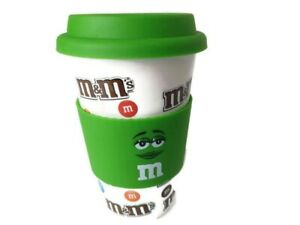 M-amp-M-Candy-Green-Ceramic-16oz-Travel-Mug-Tumbler-Coffee-Cup-Silicone-Lid-2016