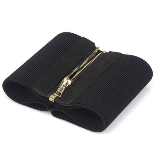Femmes large ceinture ceinture élastique Corset Fermeture Éclair Robe Stretch Ceinture