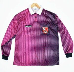 Details about Vintage German NFV Adidas Pink Large Referee Soccer Jersey Kreis Wesermarsch