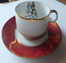 Vintage Bareuther Porcelain Waldsassen Bavaria Germany small cup & saucer Horse