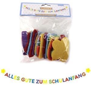 SCHULANFANG-Girlande-Filz-Alles-Gute-Einschulung-Schulfest-Schulanfaenger-Deko