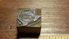 Texas Mobile Home Association TMHA Printer's Letterpress Type Block