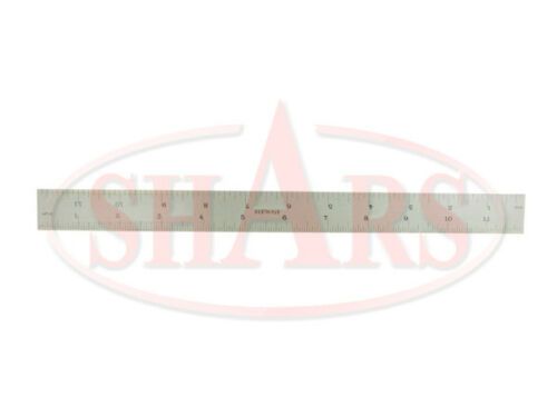 "SHARS 12/"" Rigid Steel Rule NEW"
