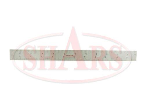 """SHARS 12/"""" Rigid Steel Rule NEW"""