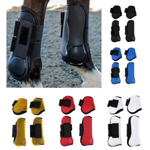 Lined Brushing Boots Horse Full Protect Front Leg Equestrian Yellow