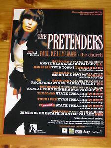 THE-PRETENDERS-PAUL-KELLY-THE-CHURCH-Australian-Tour-Laminated-Poster
