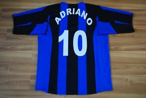 cheaper 4395a 8f994 Details about INTER MILAN INTERNAZIONALE ADRIANO #10 HOME SHIRT 2004-2005  NIKE SIZE XL VINTAGE