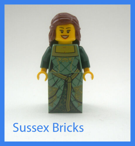 Lego Castle Kingdoms 10223 Brand New Green Queen Princess Minifigure