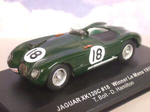 Ixo-1-43-Jaguar-Xk120c-Xk120-18-Ganador-1st-Le-Mans-1953-Rolt-Hamilton-Lm1953