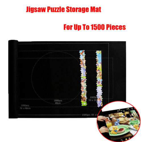 Jigsaw Puzzle Storage Mat Roll Up Puzzle Felt Storage Pad Up To 1500 Pieces NEW!