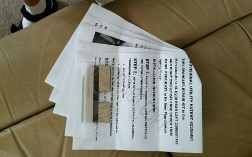 RH SPANGLER REPAIR KIT for MERCEDES-BENZ R230 SL REAR EDGE COVER TRIM PANEL FLAP