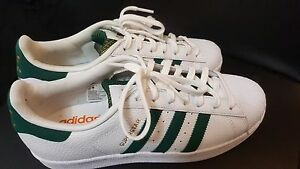 new arrival 741fc 5bfaf Details about NEW MEN'S ADIDAS ORIGINALS SUPERSTAR SHOES [BY3715] WHITE  GREEN-GOLD METALLIC