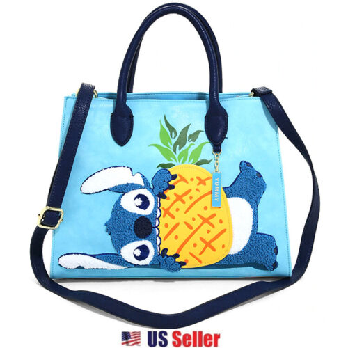 Loungefly x Disney Lilo and Stitch Pineapple Chenille Stitch Handbag Wallet