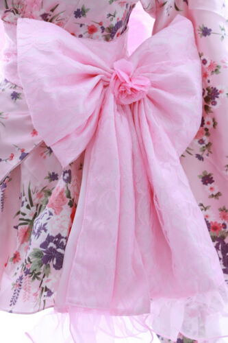 H-532 ROSA PINK FLOWER FIORI wa-Qi Lolita Giappone Kimono Costume Costume Set