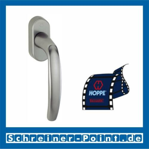Hoppe Atlanta Aluminium Fenstergriff F9 Stahlfarben 0530//US952 7//40 mm