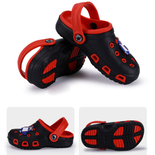 Garden Two-tone Slipper Sandals Clogs Shoes For Boys Kids Toddler Slip-On Casual