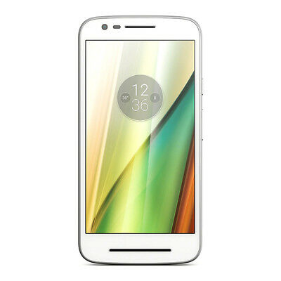 "Motorola Moto E3 Smartphone White 8GB 5"" Display Android 6.0 Unlocked Sim Free"