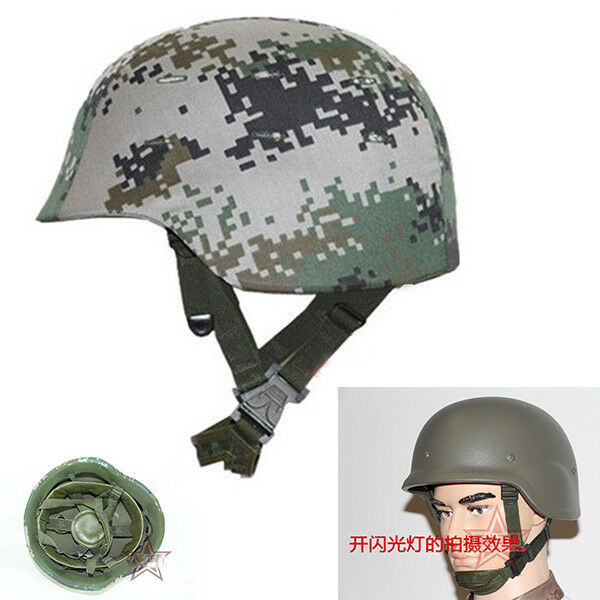 Tactical Hunting Ballistic Bullet Proof Military Helmet + Camouflage Cover set